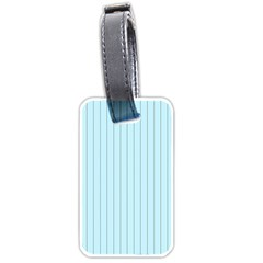 Stripes Striped Turquoise Luggage Tags (two Sides)