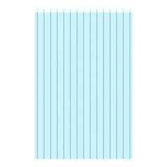 Stripes Striped Turquoise Shower Curtain 48  X 72  (small)