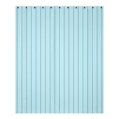 Stripes Striped Turquoise Shower Curtain 60  X 72  (medium)