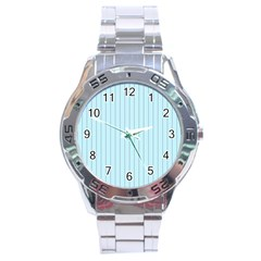 Stripes Striped Turquoise Stainless Steel Analogue Watch