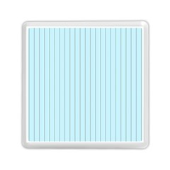 Stripes Striped Turquoise Memory Card Reader (square)
