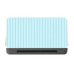 Stripes Striped Turquoise Memory Card Reader With Cf