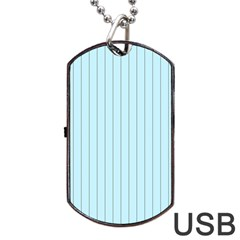 Stripes Striped Turquoise Dog Tag Usb Flash (one Side)