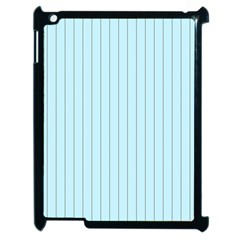 Stripes Striped Turquoise Apple Ipad 2 Case (black)