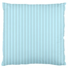 Stripes Striped Turquoise Large Cushion Case (one Side)