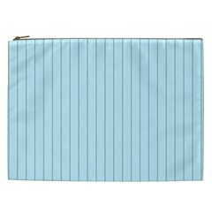 Stripes Striped Turquoise Cosmetic Bag (xxl)