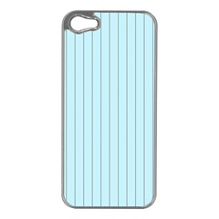 Stripes Striped Turquoise Apple Iphone 5 Case (silver)