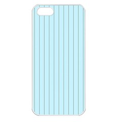 Stripes Striped Turquoise Apple Iphone 5 Seamless Case (white)