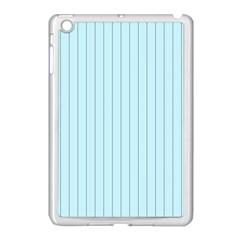 Stripes Striped Turquoise Apple Ipad Mini Case (white)
