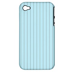 Stripes Striped Turquoise Apple Iphone 4/4s Hardshell Case (pc+silicone)