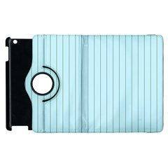 Stripes Striped Turquoise Apple Ipad 3/4 Flip 360 Case