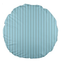 Stripes Striped Turquoise Large 18  Premium Round Cushions