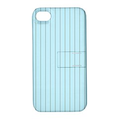 Stripes Striped Turquoise Apple Iphone 4/4s Hardshell Case With Stand