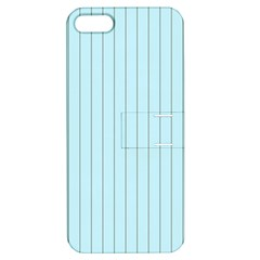 Stripes Striped Turquoise Apple Iphone 5 Hardshell Case With Stand