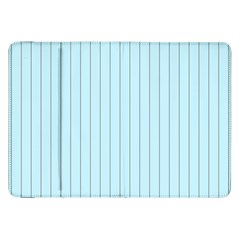 Stripes Striped Turquoise Samsung Galaxy Tab 8 9  P7300 Flip Case