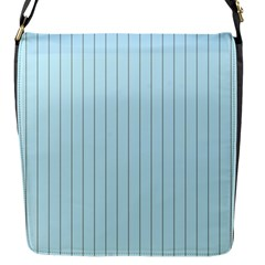 Stripes Striped Turquoise Flap Messenger Bag (s)