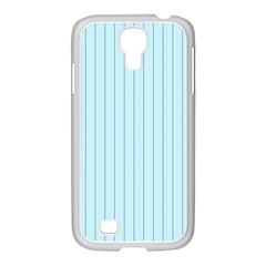 Stripes Striped Turquoise Samsung Galaxy S4 I9500/ I9505 Case (white)