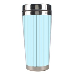 Stripes Striped Turquoise Stainless Steel Travel Tumblers