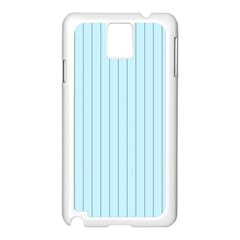 Stripes Striped Turquoise Samsung Galaxy Note 3 N9005 Case (white)