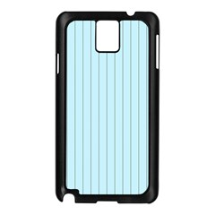 Stripes Striped Turquoise Samsung Galaxy Note 3 N9005 Case (black)