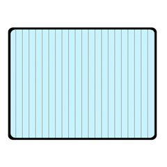Stripes Striped Turquoise Double Sided Fleece Blanket (small)