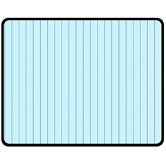 Stripes Striped Turquoise Double Sided Fleece Blanket (medium)