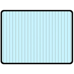 Stripes Striped Turquoise Double Sided Fleece Blanket (large)