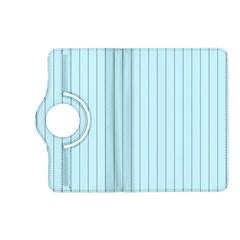 Stripes Striped Turquoise Kindle Fire Hd (2013) Flip 360 Case