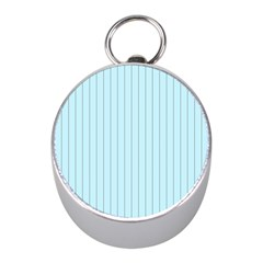 Stripes Striped Turquoise Mini Silver Compasses