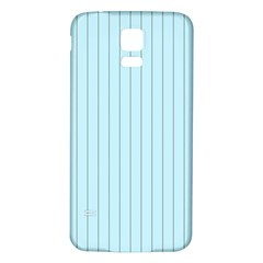 Stripes Striped Turquoise Samsung Galaxy S5 Back Case (white)