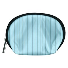 Stripes Striped Turquoise Accessory Pouches (medium)
