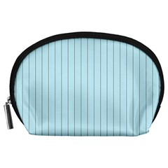 Stripes Striped Turquoise Accessory Pouches (large)