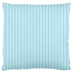 Stripes Striped Turquoise Large Flano Cushion Case (two Sides)