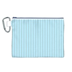 Stripes Striped Turquoise Canvas Cosmetic Bag (l)