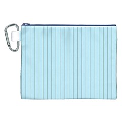 Stripes Striped Turquoise Canvas Cosmetic Bag (xxl)