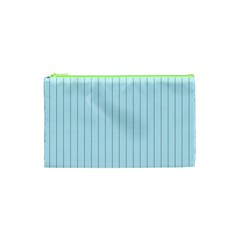 Stripes Striped Turquoise Cosmetic Bag (XS)