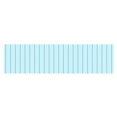 Stripes Striped Turquoise Satin Scarf (oblong)