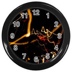 Abstract Wall Clocks (black)