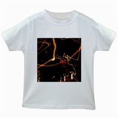 Abstract Kids White T Shirts
