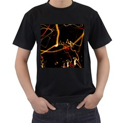 Abstract Men s T Shirt (black) (two Sided)