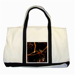 Abstract Two Tone Tote Bag
