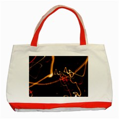 Abstract Classic Tote Bag (red)