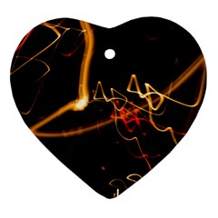 Abstract Heart Ornament (2 Sides)