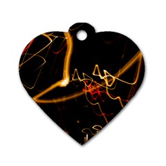 Abstract Dog Tag Heart (two Sides)