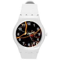 Abstract Round Plastic Sport Watch (m)