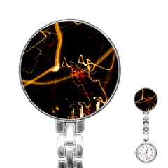 Abstract Stainless Steel Nurses Watch