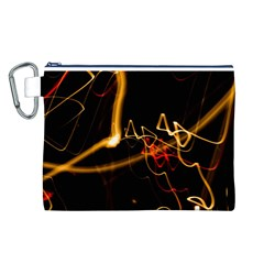 Abstract Canvas Cosmetic Bag (l)