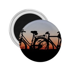 Bicycles Wheel Sunset Love Romance 2 25  Magnets
