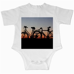 Bicycles Wheel Sunset Love Romance Infant Creepers