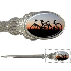 Bicycles Wheel Sunset Love Romance Letter Openers